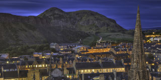 Edinburgh in Twilight Royalty Free Stock Image