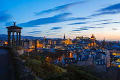 Edinburgh Twilight Skyline Royalty Free Stock Photos