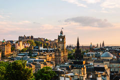 Edinburgh, UK. Aerial view from Calton Hill Royalty Free Stock Photography