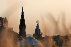 Edinburgh under sunset Stock Image