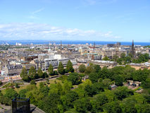 Edinburgh view. A view over the New Town from Edinburgh castle, Scotland Stock Image