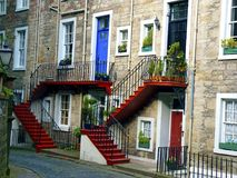 Scotland, Edinburgh, view of characteristic alleys Royalty Free Stock Images