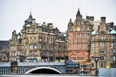 Edinburgh, View of the city, several monuments and the Castle, Royalty Free Stock Images