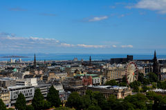 Edinburgh view. Great view of Edinburgh, Scotland, from the Castle stock images