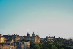 Edinburgh view. Great view of Edinburgh, Scotland, to the Castle royalty free stock image