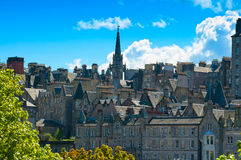 Edinburgh view, Scotland, Uk. Royalty Free Stock Photo
