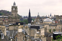Edinburgh vista from Calton Hill Stock Photography