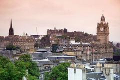 Edinburgh vista from Calton Hill Royalty Free Stock Photos