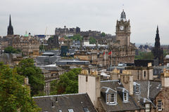 Edinburgh vista from Calton Hill Stock Photos