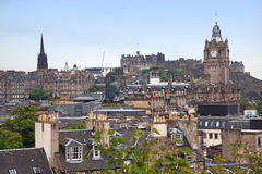 Edinburgh vista from Calton Hill Royalty Free Stock Photo