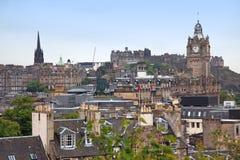 Edinburgh vista from Calton Hill Royalty Free Stock Photo