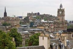 Edinburgh vista from Calton Hill Stock Photos