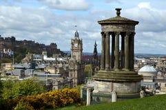Edinburgh vom Calton Hügel lizenzfreie stockfotos