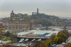 Edinburgh Waverley railway station Stock Photography