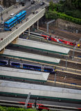 Edinburgh Waverley Train Station Stock Photo