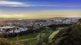 Edinburgh in Winter Royalty Free Stock Photos