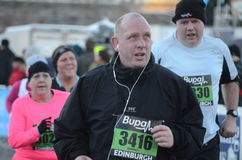 edinburgh zabawy biegacze Scotland Obraz Royalty Free