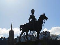 Edinburghorisont på prinsgatan royaltyfri fotografi