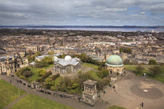 Edinburghs skyline, Scotland Royalty Free Stock Images