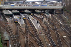 Edinburghs Waverley Bahnstation Lizenzfreie Stockfotografie
