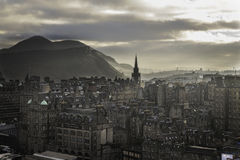 Edinburgmorgon Arkivfoton