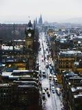 Edinburgsikt från den Calton kullen fotografering för bildbyråer