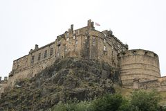 Edinburgslott i Edinburg, Skottland arkivbild