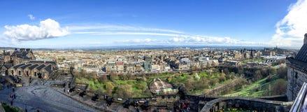 Edinburgstad från Edinburgslotten, Skottland, UK Fotografering för Bildbyråer
