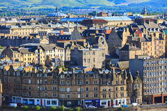 Edingurgh city on Calton Hill, Scotland. Stock Photos