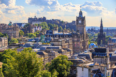 Edingurgh city on Calton Hill, Scotland. Royalty Free Stock Image