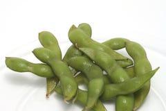 Edinome (feijões da soja) em uma placa Imagem de Stock