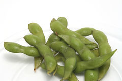 Edinome (soy beans) on a plate Stock Image