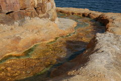 Edipsos city on island Evia in Greece with spa Sulfur waters. Royalty Free Stock Image