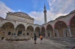 Edirne Selimiye moské i Turkiet arkivbild