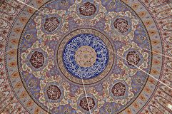 Edirne Selimiye Mosque roof pattern in Turkey. The mosque was commissioned by Sultan Selim II, and was built by architect Mimar S stock image