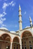 Outside view of Selimiye Mosque Built between 1569 and 1575 in city of Edirne, Turkey royalty free stock image