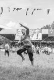 EDIRNE, TURQUÍA - 26 DE JULIO DE 2010: Pehlivan turco de los luchadores en la competencia en Kirkpinar tradicional que lucha Imagen de archivo