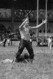 EDIRNE, TURQUÍA - 26 DE JULIO DE 2010: Pehlivan turco de los luchadores en la competencia en Kirkpinar tradicional que lucha Fotos de archivo libres de regalías