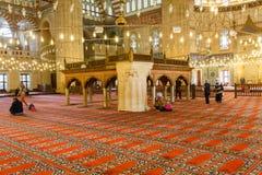 EDIRNE, TURQUIA - 28 DE ABRIL DE 2015: povos no interior da mesquita de Selimiye Imagens de Stock Royalty Free