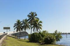 Edison Bridge à Fort Myers, sud-ouest la Floride Image libre de droits
