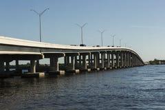 Edison Bridge à Fort Myers, sud-ouest la Floride photo stock