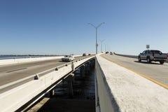 Edison Bridge in Fort Myers, sud-ovest Florida fotografia stock libera da diritti