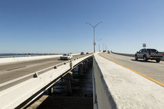 Edison Bridge i Fort Myers, sydvästliga Florida royaltyfri foto