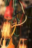 Edison Bulb med färgrika trådar Royaltyfria Bilder