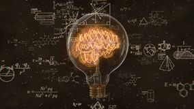 Edison Bulb, Nebula Brain and Formula Background