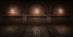 Free Edison Bulbs On Wall Brick Background Royalty Free Stock Photo - 50107005