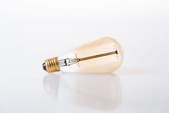 Edison Classic Light Bulb. Landscape edison classic light bulb with reflection Stock Photos