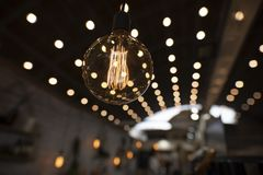 Edison Incandescent Light Bulb décoratif photo stock