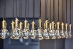 Edison-Lampen Stockfotografie