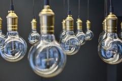 Edison lampor fotografering för bildbyråer